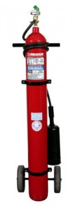 Matafuego (extintor) a base de CO2 de 10 Kg.