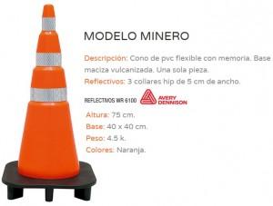 """CONO PVC FLEXIBLE """"MINERO"""""""