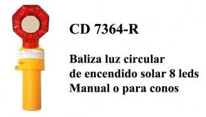 BALIZA PARA CONOS 8 LEDS