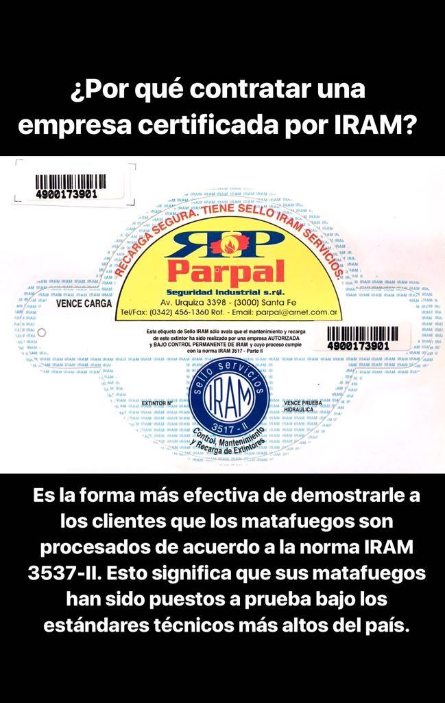 Etiqueta IRAM Parpal porque